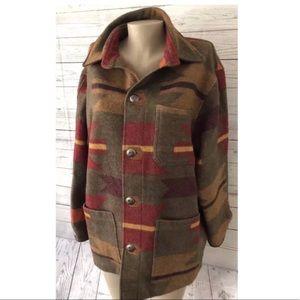 Tasha Polizzi Native American Aztec Wool Jacket
